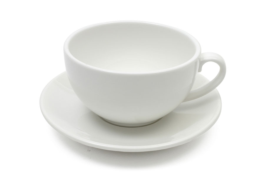 White Tea cup & Saucer